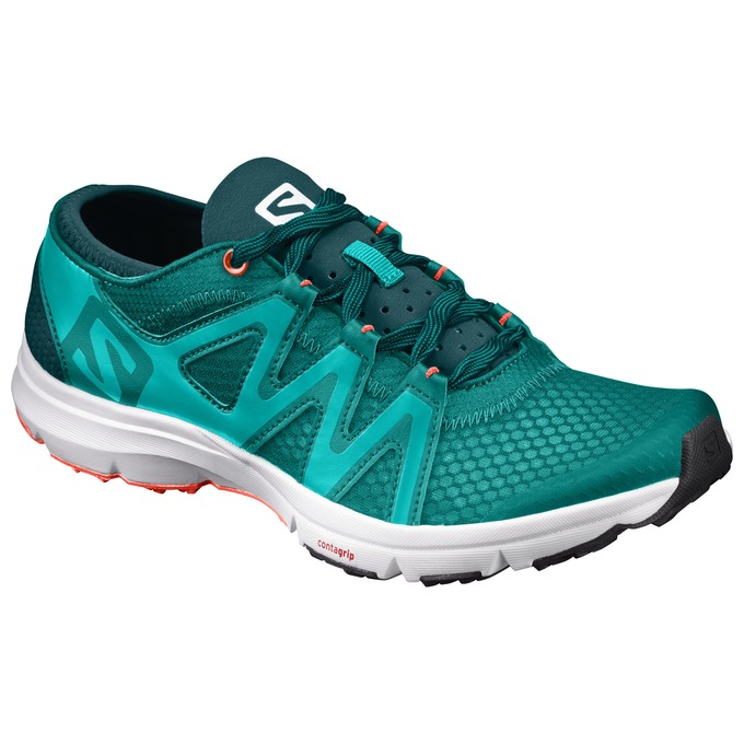 Chaussure Running Salomon Crossamphibian Swift W Femme Turquoise - France (166LDXFN)