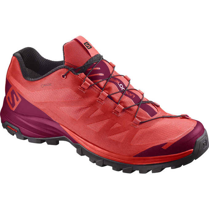 Chaussure Randonnée Salomon Outpath Gtx® W Femme Orange/Bordeaux - France (141NQRXF)