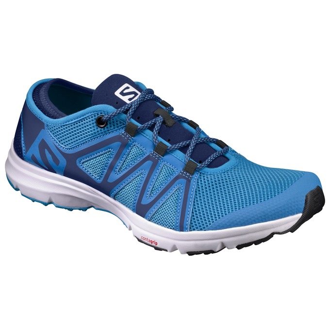 Chaussure Running Salomon Crossamphibian Swift Homme Bleu - France (670RZCYA)