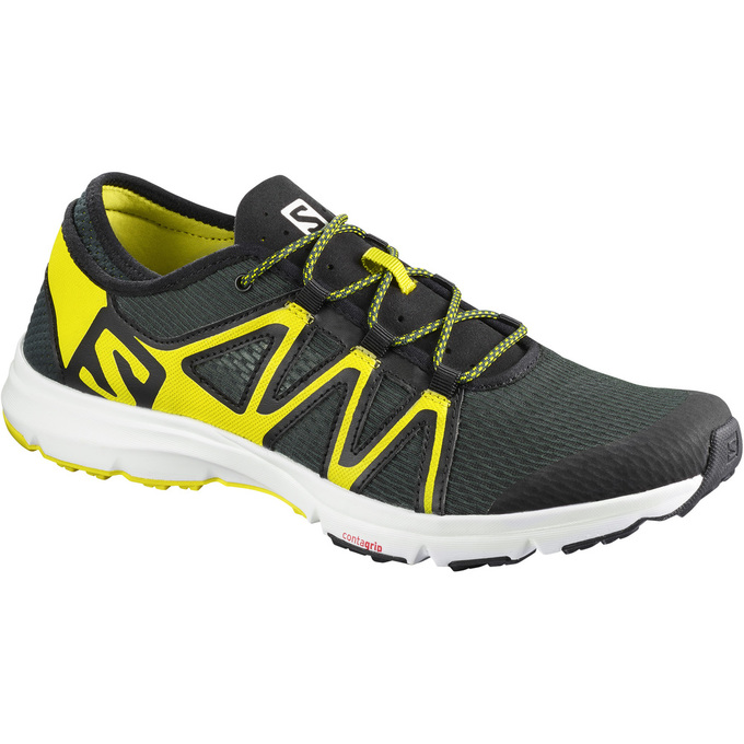 Chaussure Running Salomon Crossamphibian Swift Homme Noir/Jaune - France (457AUOFZ)