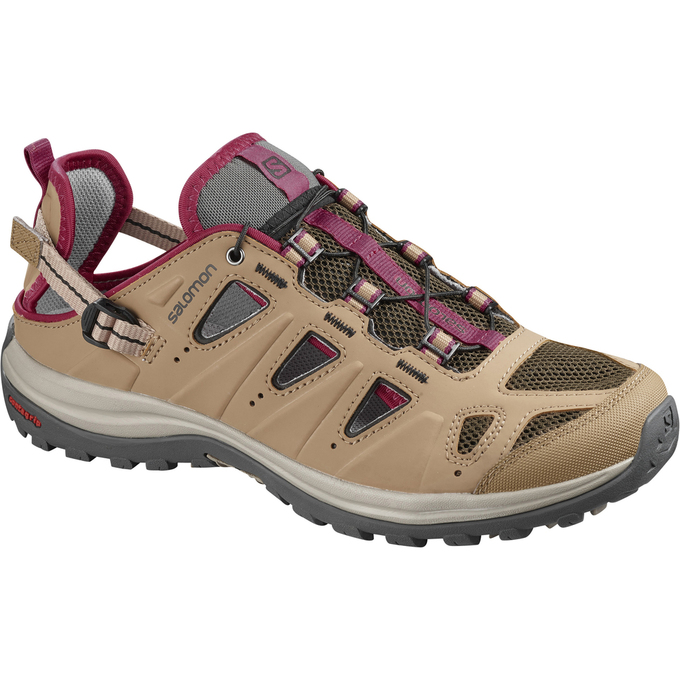 Chaussure Running Salomon Ellipse Cabrio Femme Marron - France (418YUOKP)