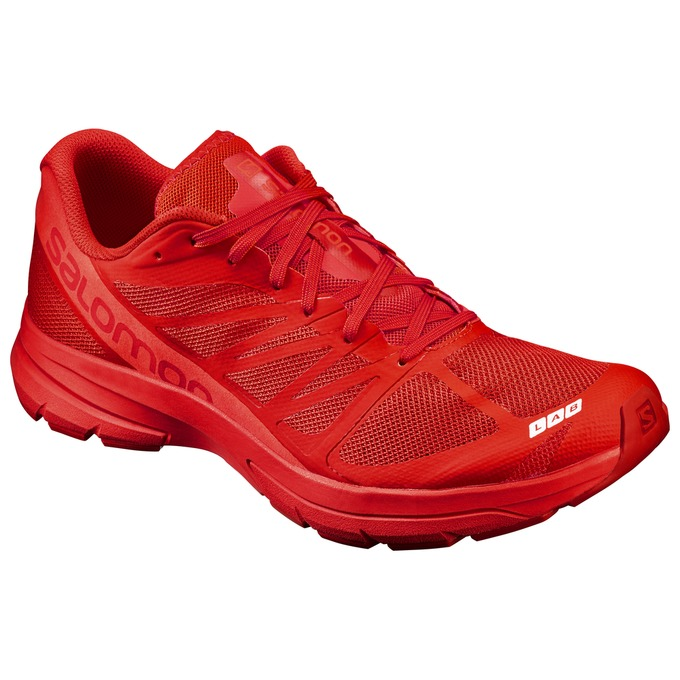 Chaussure Running Salomon S-lab Sonic 2 Homme Rouge - France (377CTNSB)