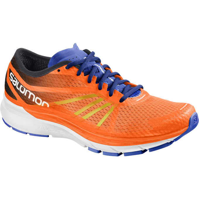 Chaussure Running Salomon Sonic Ra Pro Homme Orange/Blanche - France (941AZRXT)