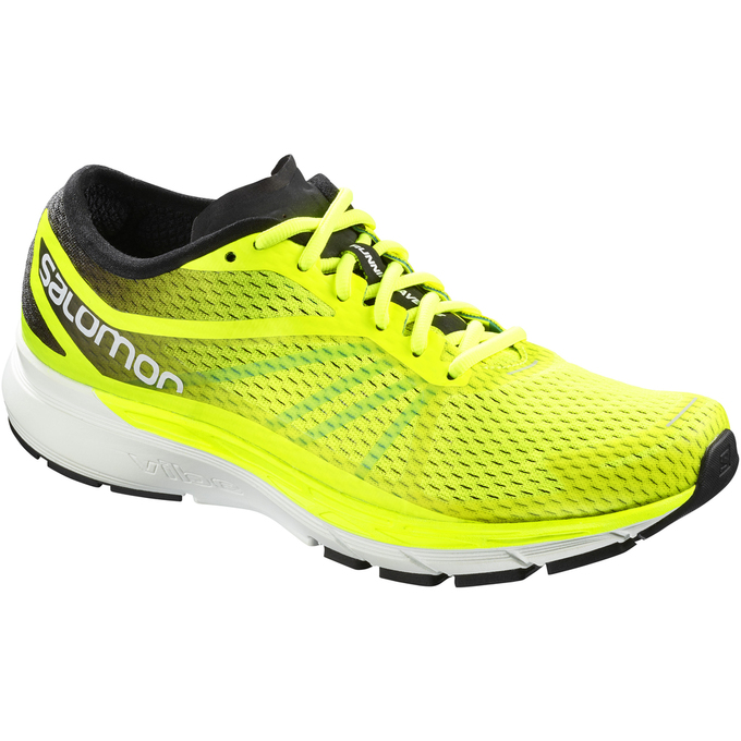 Chaussure Running Salomon Sonic Ra Pro Homme Fluorescente Jaune - France (166YGZXW)