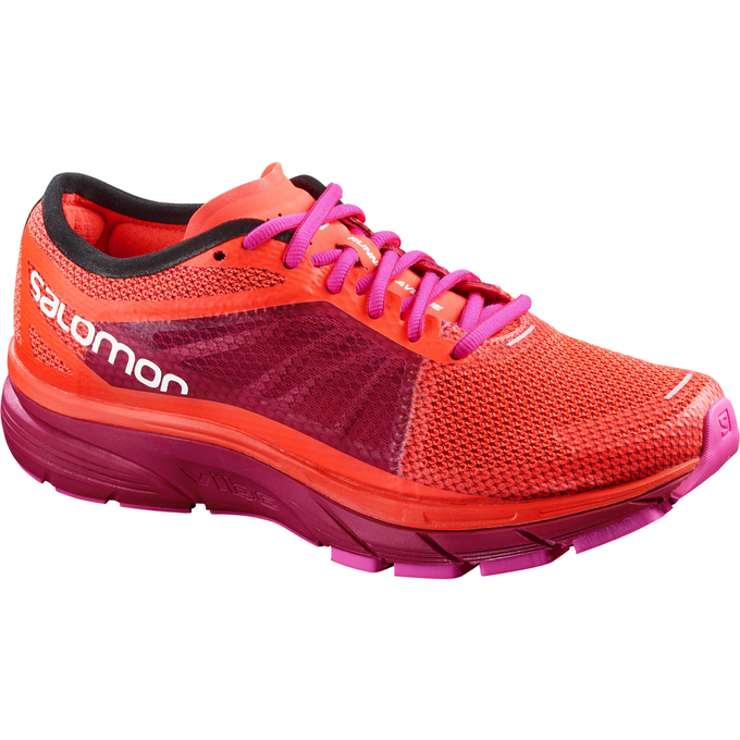 Chaussure Running Salomon Sonic Ra W Femme Orange/Violette - France (911MVIYQ)