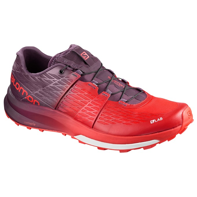 Chaussure Trail Salomon S/Lab Ultra Homme Rouge/Violette - France (697VPJZF)