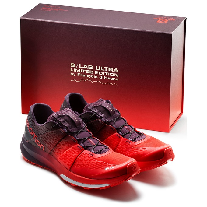 Chaussure Trail Salomon S/Lab Ultra Ltd Edition Homme Rouge/Violette - France (948SDQMF)
