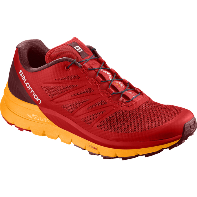 Chaussure Trail Salomon Sense Pro Max Homme Rouge/Orange - France (972CFAXZ)