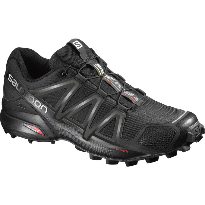 Chaussure Trail Salomon Speedcross 4 Wide Homme Noir - France (894NQUYI)