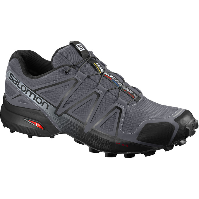 Chaussure Trail Salomon Speedcross 4 Wide Homme Grise/Noir - France (909VQKIP)