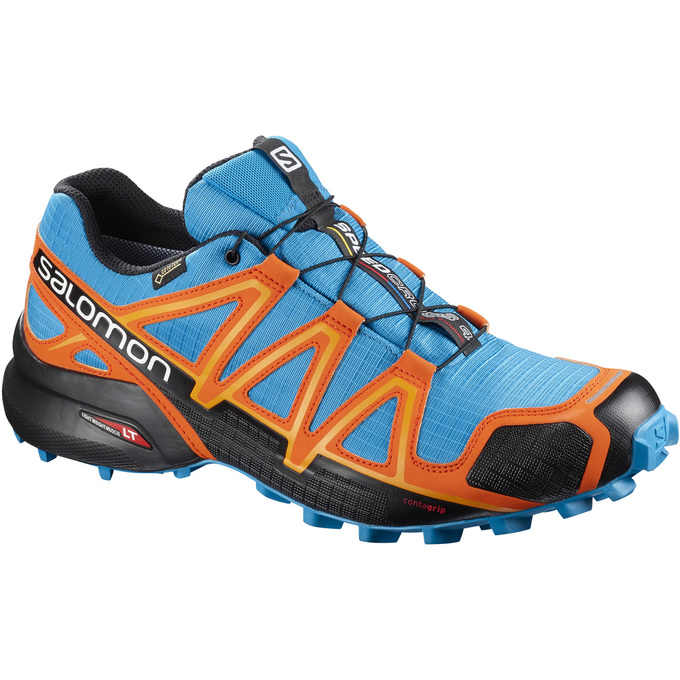 Chaussure Trail Salomon Speedcross 4 Gtx® Homme Bleu/Orange/Noir - France (767MZIFE)